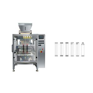 Machine à emballer de sucre de bâtonnet de sachet de 8 lignes multi de ligne